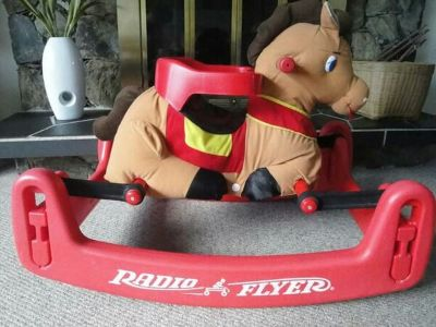 Kids radio flyer rocker pony