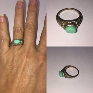 Vintage Handmade Turquoise Sterling Silver Ring