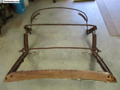 68 69 70 VW Bug Convertible Top Frame Assembly Bow