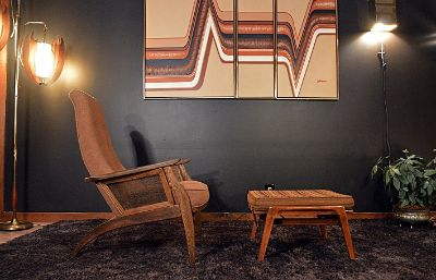 Mid Century Pearsall Style Sculptural Lounge Chair