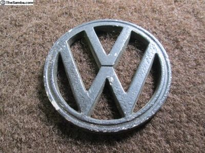 Original VW Hood Emblem K. Schwager