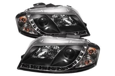 Buy Spyder AA306DRL Black Clear Projector Headlights Head Light w LEDs DRL motorcycle in Rowland Heights, California, US, for US $334.02