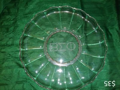 Beta Sigma Phi Glass Serving Tray