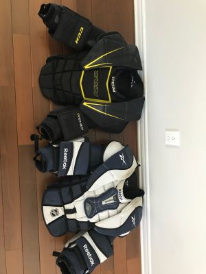 lite goalie chest protectors - Int Large/XL and Senior Small