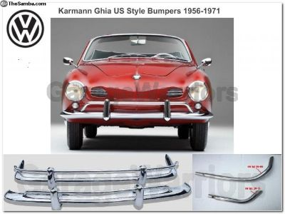 1956-1971 Ghia Stainless Steel Bumpers US Style