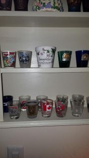 15 or 16 Shot Glasses from USA And Canada