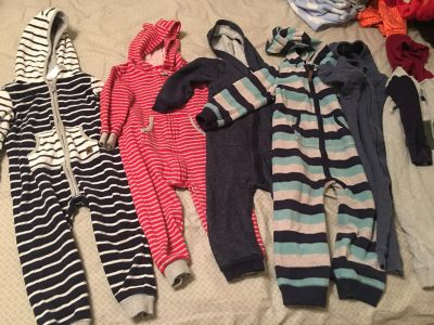 24mo 1 piece hooded jumpsuits