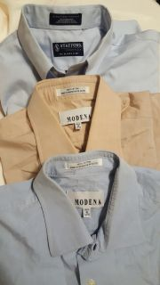 3 men's button down, EUC, 16 Reg