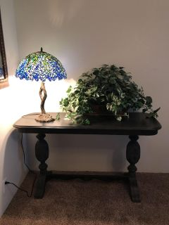 Moving in August sale table made in Virginia heavy ornate entry/sofa table
