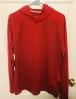 Nike Men s DriFit Red Hoodie Large