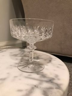 Set of six cut crystal compote dishes