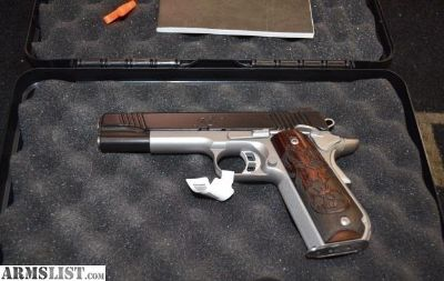"""For Sale: Kimber Camp Guard 10 10mm 5"""" Engraved Grips"""