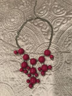 Hot pink bubble necklace