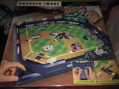 Brand New in Box Sharpers Image Table Baseball game