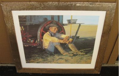 *~~ Chuckwagon by G. Snidow for Coors Cowboy Series Print/Framed ~~*