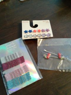 New little girls Earrings and Bobby pins