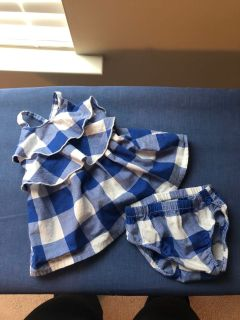 Size NB dress with diaper cover