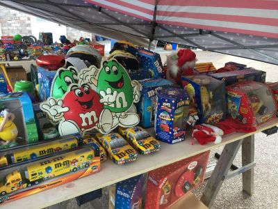 Collection of M & M items