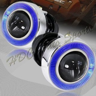 """Purchase Universal 3"""" Round Blue Halo Projector Glass Lens Fog Driving Lights Lamps Kit motorcycle in Walnut, California, United States"""