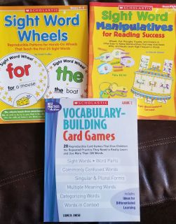 Lot of 3 Sight Word and Vocabulary Building Books for K-2