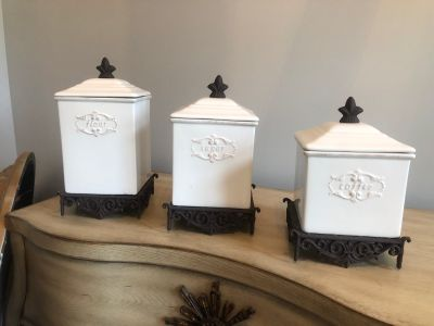 Kitchen canisters, $45