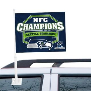 "***** SEATTLE SEAHAWKS ""NFC CHAMPIONS"" Car Flags ***** (NEW)"