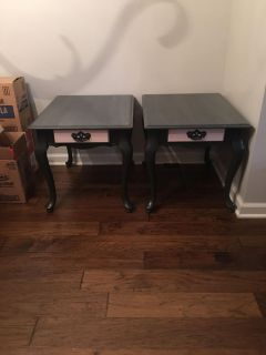 Solid wood, completely sturdy matching end tables