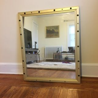 Vintage Vanity Mirror in Brass