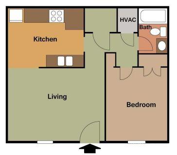 1 bedroom in Fayetteville