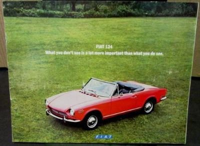 Purchase Original 1971 Fiat Dealer Sales Brochure 124 Sport Coupe Spider Wagon USA motorcycle in Holts Summit, Missouri, United States, for US $15.71
