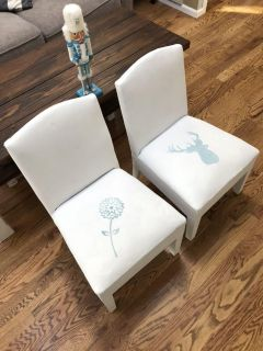Two cute toddler chairs