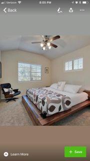 Reclaimed Wood King Platform Bed