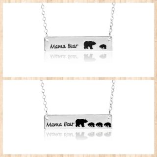 Mama Bear Bar Necklace with One or Three cubs ONE LEFT OF EACH! $3 each!