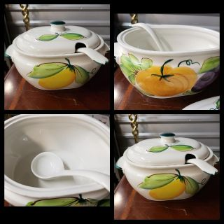 Large Serving Bowl With Ladle