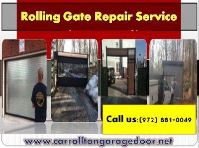 Rolling Gate Repair Service Carrollton | 972-881-0049 | Same Day Service