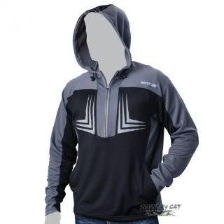 Sell Arctic Cat Men s 1/2 Zip Performance Hooded Sweatshirt Black & Gray - 5269-13_D motorcycle in Sauk Centre, Minnesota, United States, for US $41.99