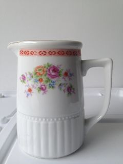 Vintage China Pitcher Made in China , Red Ink