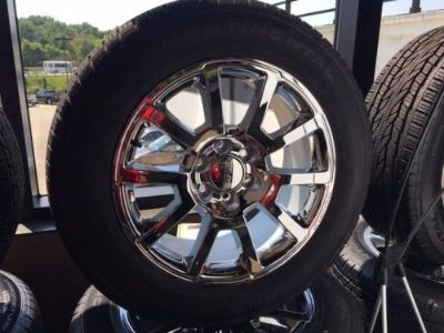 "Buy SET OF 4 TIRES AND 20"" CHROME WHEELS FOR SIERRA YUKON TAKE OFFS LESS 500 MILES motorcycle in Cuyahoga Falls, Ohio, United States"
