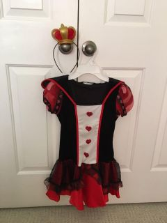 Queen of Hearts Costume. So cute! Comes with headband crown. Size 10/12ish. $12