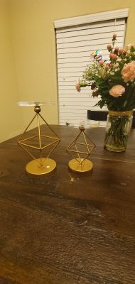 Pier 1 Geometric Candle Holders