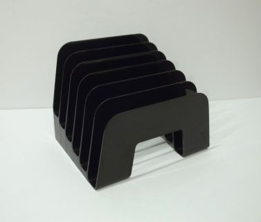 Black Plastic Desk Mail Paper File Organizer