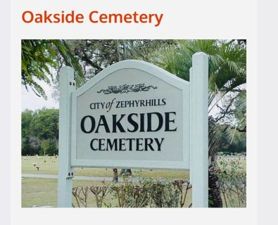 Oakside Cemetery Plot w/Headstone included