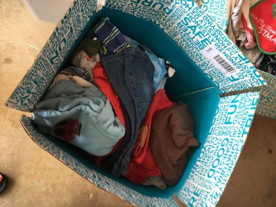 Box full of precious boys clothing baby size 3-6 months over fifty outfits or more too much to post separately