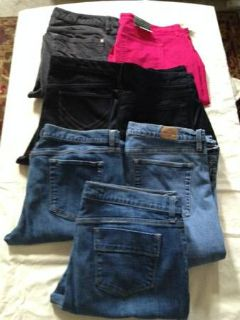 womens size 1416 jeans and pants gapold navy