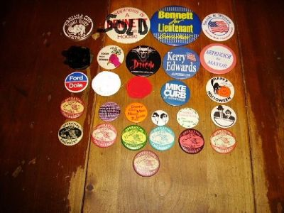 Vintage Pin Back Buttons