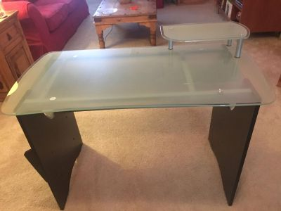 Desk - Wood with Glass Top
