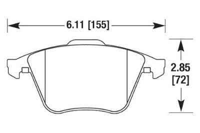 Sell HAWK HB625Z.760 - 2008 Audi TT Front Brake Pads Ceramic motorcycle in Chino, California, US, for US $125.84