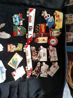 Coca cola collectible Olympic pins.