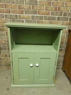 Cabinet storage, hand made, sturdy, solid wood, adjustable shelves, perfect for small tv, childrens rm for books, misc items, project piece