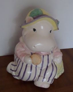 Very Rare Fitz & Floyd Hippo Cookie Jar